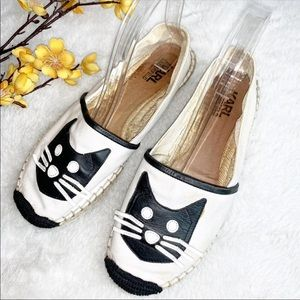 KARL LAGERFELD || 7 Cat Espadrille Shoes - Canvas